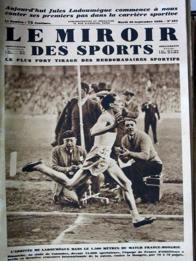 Revue miroir des sports for Miroir des sports